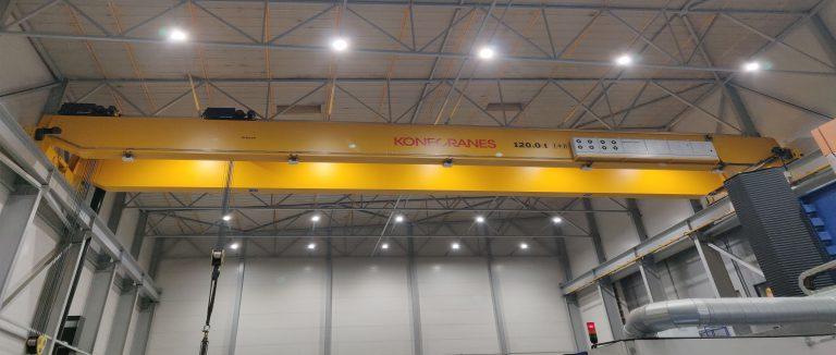 PKP-machining teollisuushallin LED-valaistus