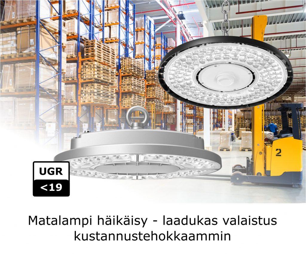 Kustannustehokas valaistus syväsäteilijöillä - Ledimo Oy